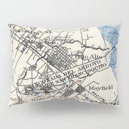 Vintage Map of Palo Alto California (1899) Pillow Sham