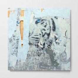 Wild Siberian Tiger Collage Metal Print