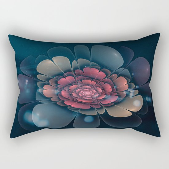 A Beautiful Fractal Flower Rectangular Pillow