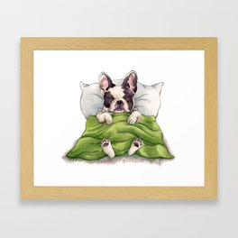 Bubba Sleeping Framed Art Print