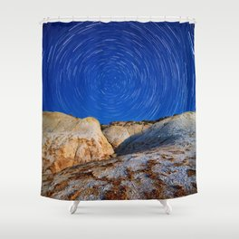Up To the Milky Way Shower Curtain