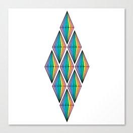 Rainbow Plumbobs Canvas Print