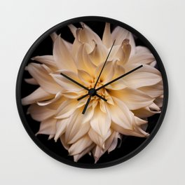 White isolated flower Wall Clock