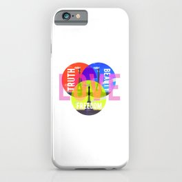 Bohemian Ideals - Typogrpaphy - Photograpy mixed media digital art iPhone Case
