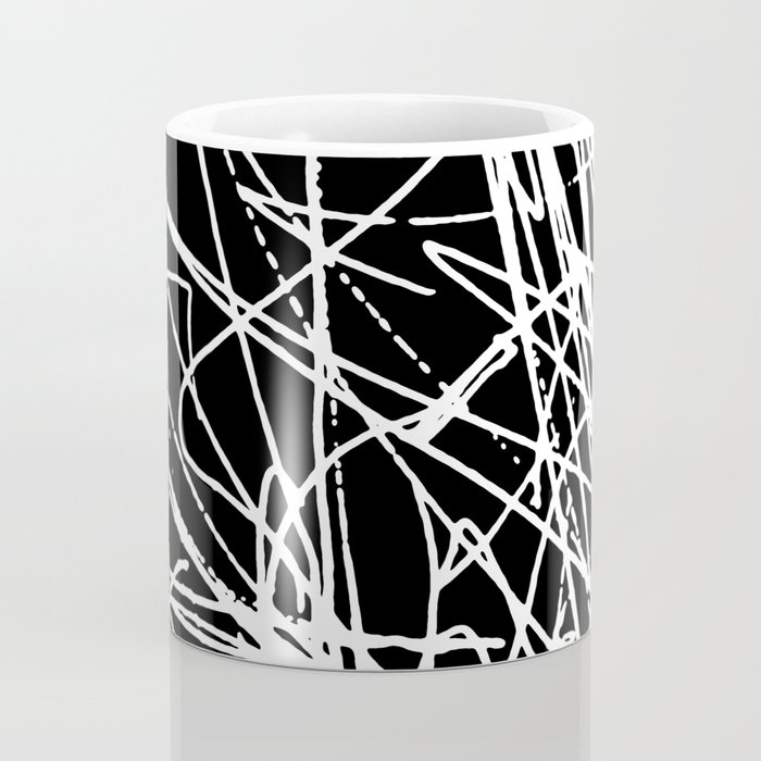 Daisy Scribble Black Coffee Mug