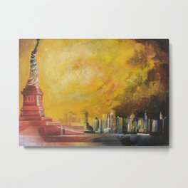 Resta immobile / Remains motionless Metal Print