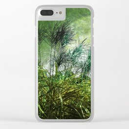 Waters Edge Vintage Green Clear iPhone Case