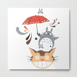 Tottoro and friend Umbrella Metal Print