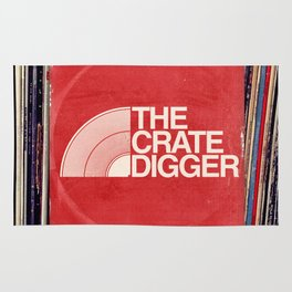 THE CRATE DIGGER FACE Rug