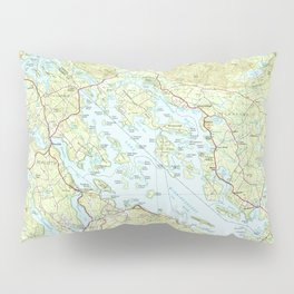 Lake Winnipesaukee Map (1986) Pillow Sham