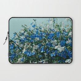 Blue Flowers, Blue Summer Sky Laptop Sleeve