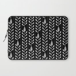 Monochrome banksia pattern Laptop Sleeve