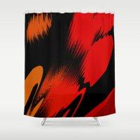 splatter Shower Curtains featuring Splatter by ArtsandStyles