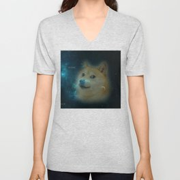 shibe doge in space Unisex V-Neck