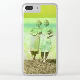 Green Promise Clear iPhone Case