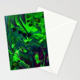 Green Plasma Stationery Cards