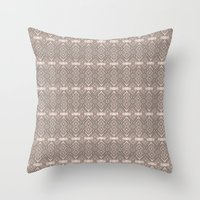 reassurance Throw Pillows featuring Wood print II by Magdalena Hristova