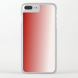 Ombre in Red White Clear iPhone Case