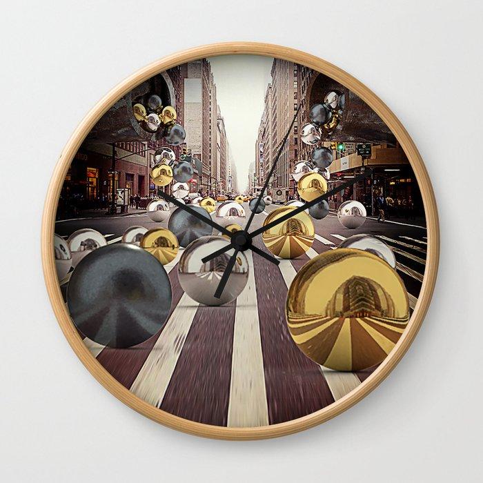 New York City Spill 2 Wall Clock
