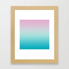 Pastel Ombre Pink Blue Teal Gradient Pattern Framed Art Print