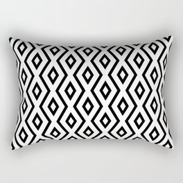 Black & White Diamond Pattern Rectangular Pillow