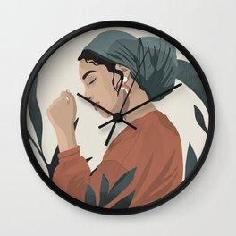 Serene and scarf Wall Clock