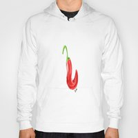 chile Hoodies featuring Chile by Guacamole Design