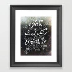 Eat Sleep Love Framed Art Print