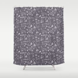 A Plethora (Purple Smoke) Shower Curtain