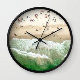 miami beach coastline Wall Clock