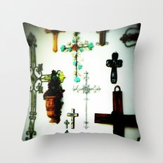 Crosses Throw Pillow