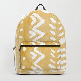 Loose bohemian pattern - yellow Backpack