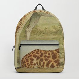 Vintage Giraffe Illustration (1903) Backpack