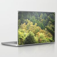 forrest Laptop & iPad Skins featuring Forrest Green by Bizzack Photography