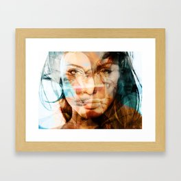faces of Angelina Jolie Framed Art Print