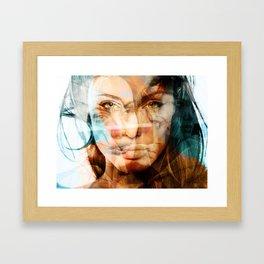 faces of Angelina Jolie Framed Art Print