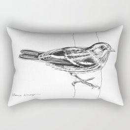 Black-and-white Warbler Drawing Rectangular Pillow