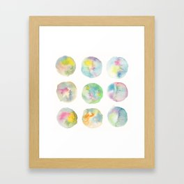 Imperfect Circles Framed Art Print