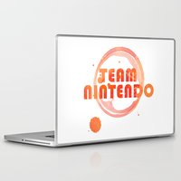 nintendo Laptop & iPad Skins featuring Team Nintendo by Bradley Bailey