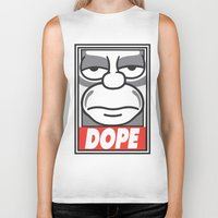 homer Biker Tanks featuring Dope Homer by MaNia Creations