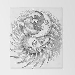 Moon and Sun Throw Blanket