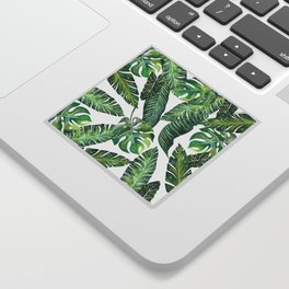 Jungle Leaves, Banana, Monstera #society6 Sticker