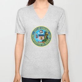 Seal of Chicago, Illinois Unisex V-Neck