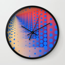 Mise en abyme 17 (recurring dots) Wall Clock