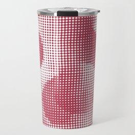 Vintage 1930s Textile Design Pattern - Red Travel Mug