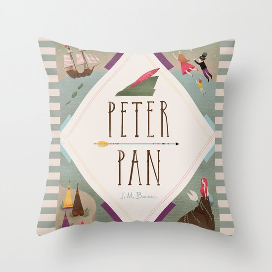 Peter Pan Throw Pillow By Emilydove Society6