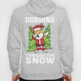 Corgi Dabbing Through The Snow Christmas Hoody