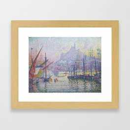 View of the Port of Marseilles Framed Art Print