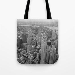 Lower Manhattan aerial Tote Bag