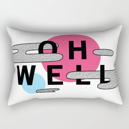 Oh Well - Pink and Blue Rectangular Pillow